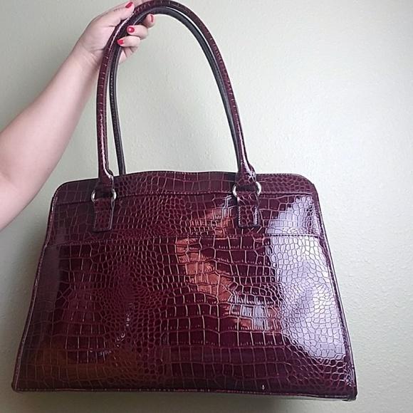 ac61dedc36 Handbags - Faux Crocodile Laptop Bag